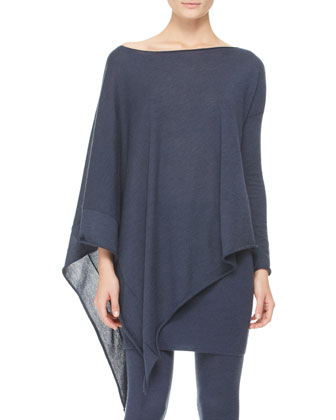 Asymmetric Draped Poncho Top