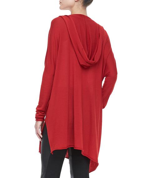 Hooded Cashmere Drape Tunic
