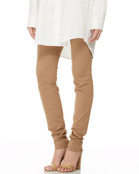 Seamed Pull-On Legging Pants