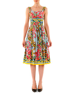 Dolce & Gabbana Printed Full-Skirt Tank Dress