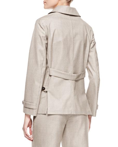 Micro Pied de Poule Short Coat