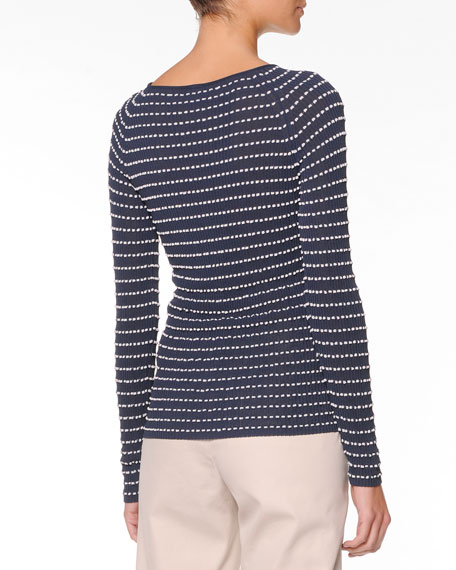Long-Sleeve Textured Top