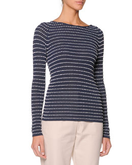 Giorgio Armani Long-Sleeve Textured Top