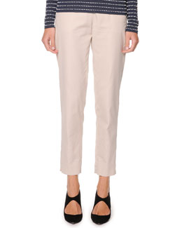Giorgio Armani Washed Poplin Ankle Pants