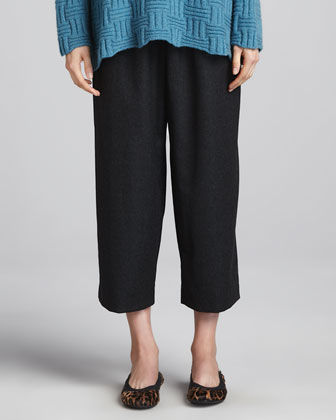 Japanese Flannel Trousers, Charcoal