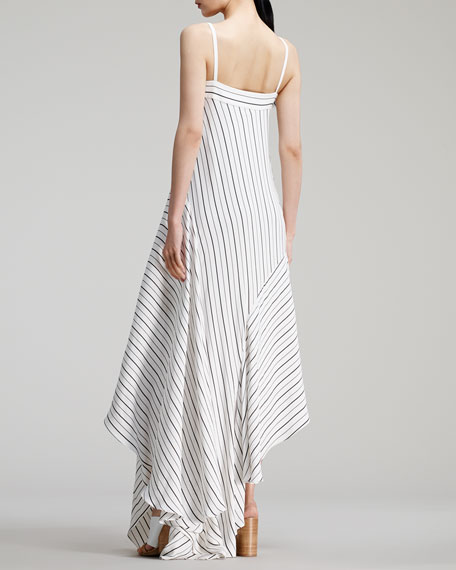 Chloe Sailor Striped Long Dress White Black