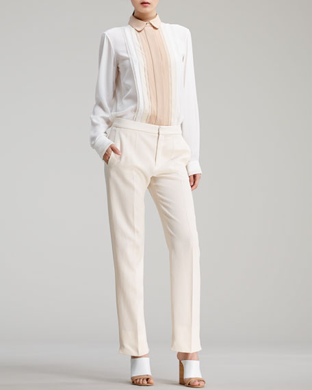 Straight-Leg Trousers, Sail White