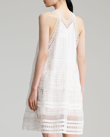 Diamond-Lace Dress, Milk