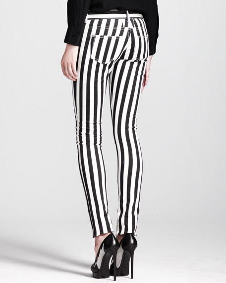 Thick-Stripe Skinny Jeans