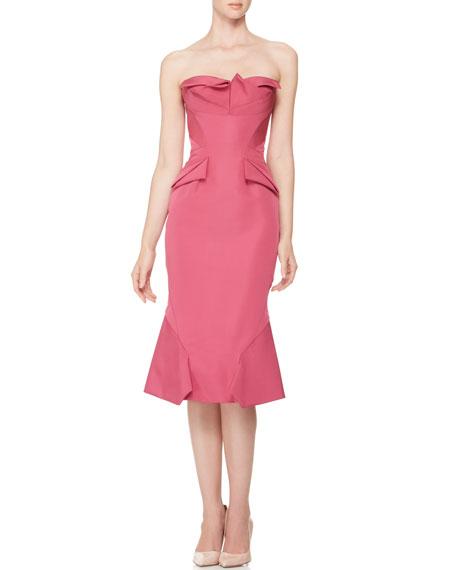 Strapless Origami-Fold Dress