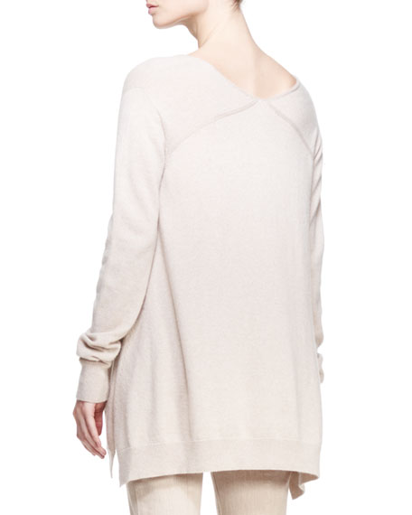 Cashmere V-Neck Trapeze Sweater
