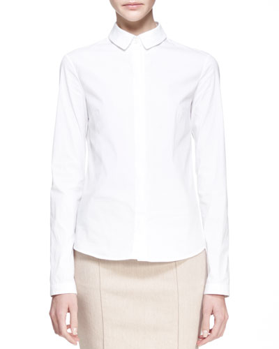 THE ROW Poplin Button-Up Blouse