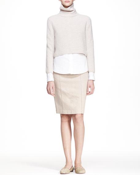 Heavyweight Stretch Denim Skirt