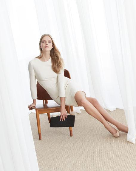 3/4-Sleeve Stretch Scuba Dress