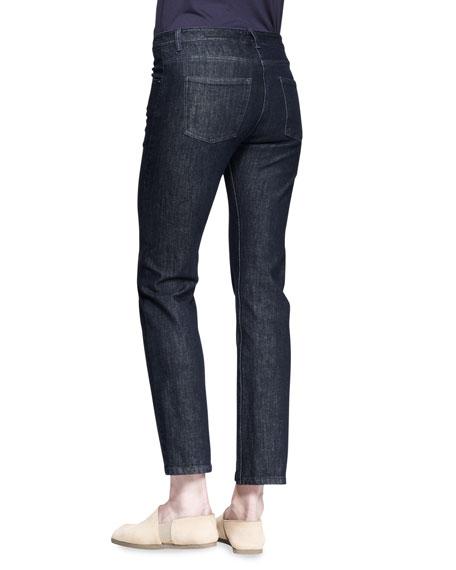 Straight-Leg Denim Pants
