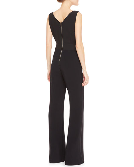 Lace-Top Sleeveless Jumpsuit