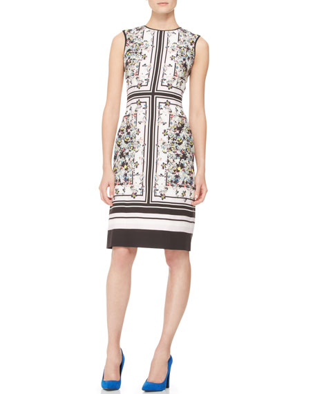 Tali Fitted Printed Dress