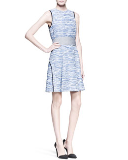 Proenza Schouler Sleeveless Cummerbund-Waist Dress