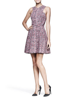 Proenza Schouler Full Printed Cross-Front Dress