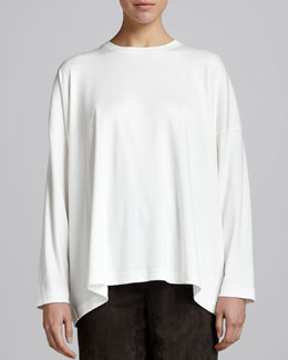 eskandar Long-Sleeve Top, Ivory