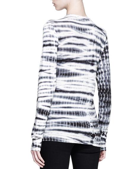 Long-Sleeve Tie-Dye T-Shirt
