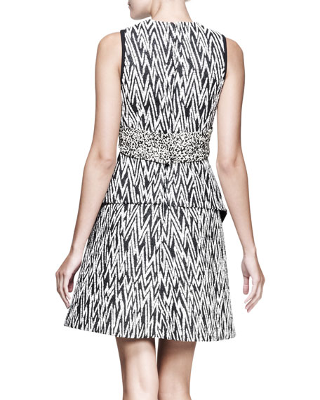 Full Zigzag Cutout Dress