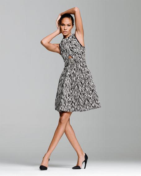 Full Zigzag Cutout Dress