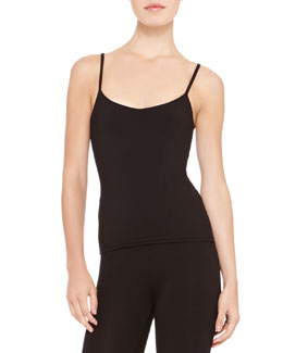 Ralph Lauren Collection Silk-Jersey Camisole, Black