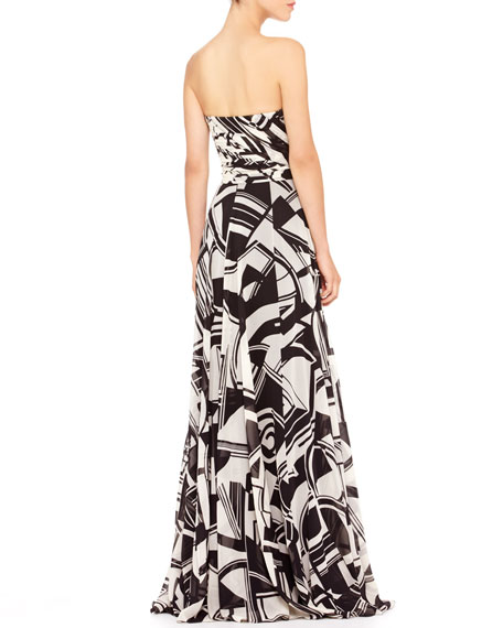 Maria Printed Bustier Gown