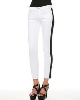 Ralph Lauren Black Label 400 Side-Stripe Cropped Jeans