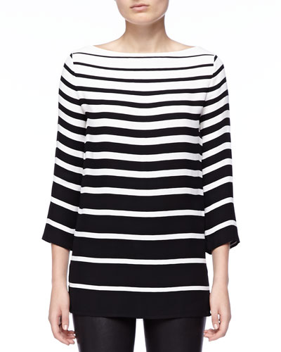 Ralph Lauren Black Label Linette Graduated-Stripe Tunic