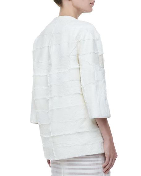 Crystal-Embellished Dolman Coat