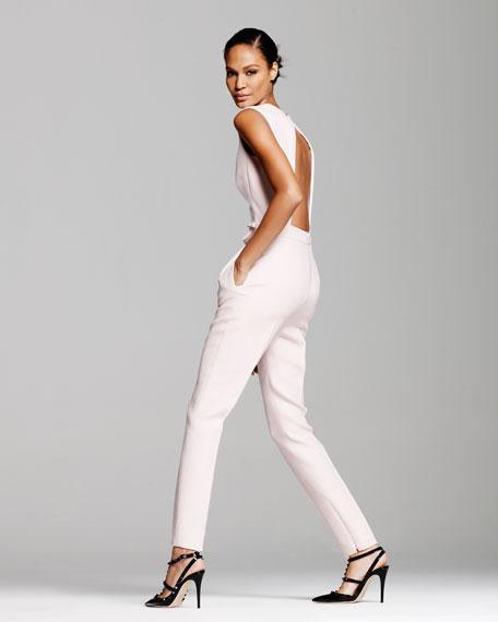 Open-Back Bow Jumpsuit