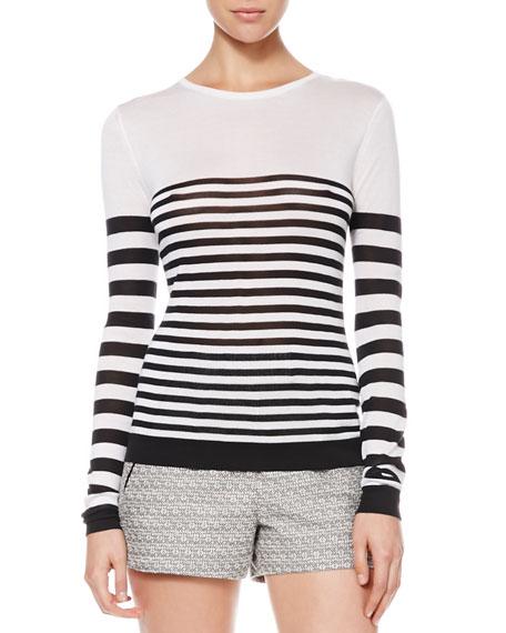 Long-Sleeve Striped Shirt