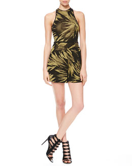 Jason Wu Sleeveless Knit Botanical Jumper
