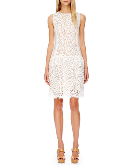 Drop-Waist Lace Dress