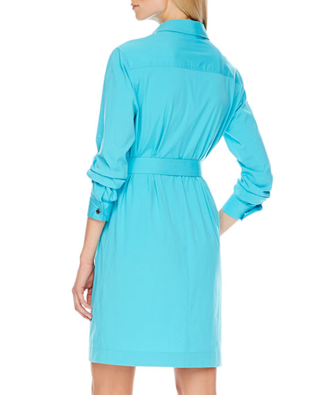 Belted Poplin Shirtdress