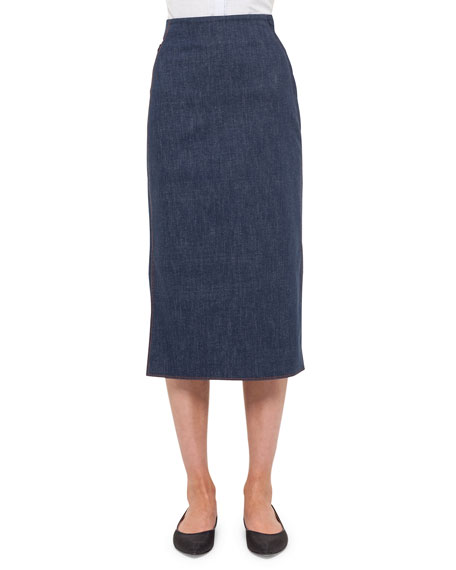 long pencil skirt, cotton de
