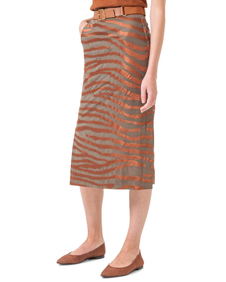 long pencil skirt, cotton vi