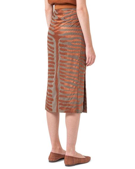 long pencil skirt, cotton vi