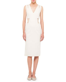 Akris Sleeveless Tulle-Waist Dress