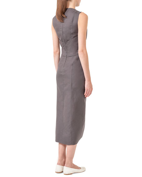 Asymmetric Button-Top Dress