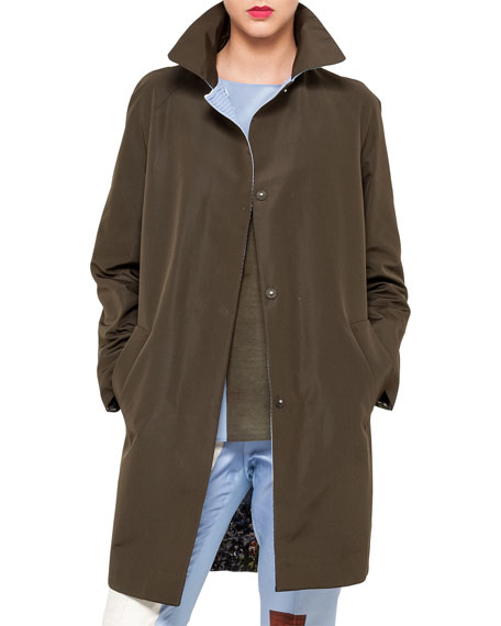Akris Satellite Tower Reversible Snap Coat