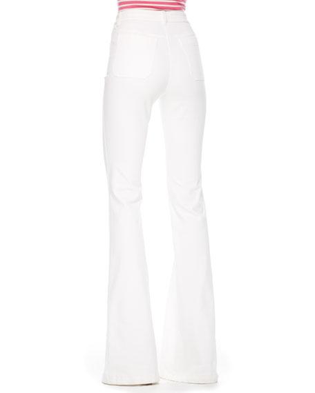 Flared Stretch-Denim Jeans