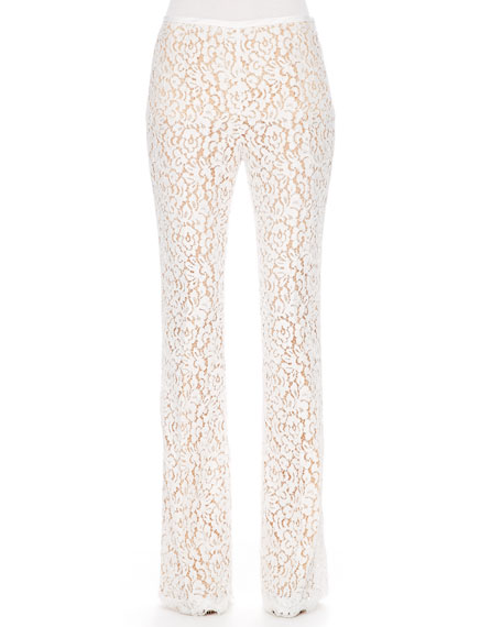 Floral-Lace Trousers