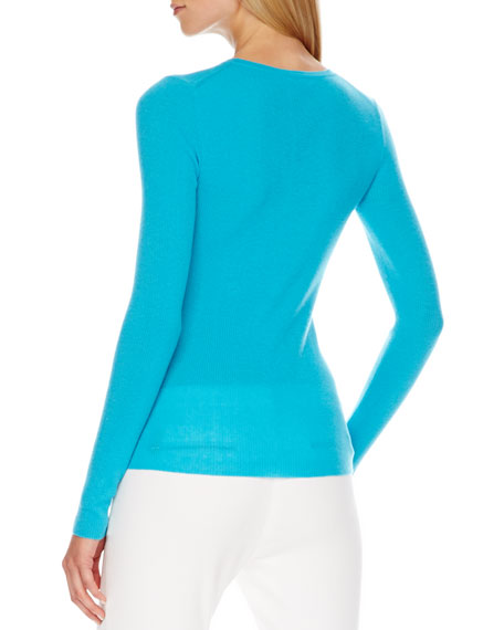 Scoop-Neck Cashmere Sweater