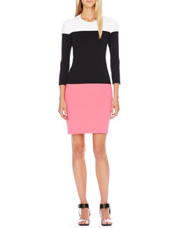 Michael Kors Colorblock Knit Dress