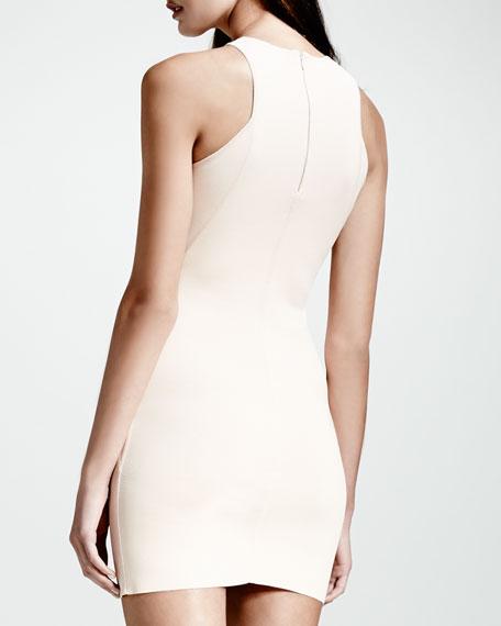 Cut-In Sleeveless Sheath Dress, Rose