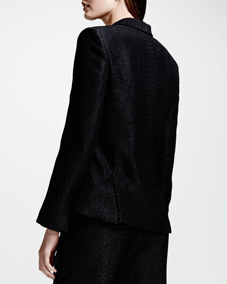 Python Jacquard Blazer, Black