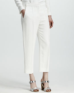 Stella McCartney Python Jacquard Pants, White